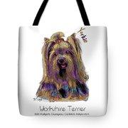 Yorkshire Terrier Pop Art Tote Bag