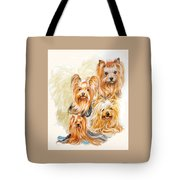 Yorkshire Terrier W/ghost Tote Bag