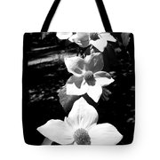 Yosemite Dogwoods Black And White Tote Bag
