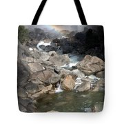 Yosemite Falls Rainbow Tote Bag