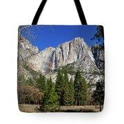 Yosemite Falls Through The Trees Tote Bag