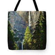 Yosemite Falls With Late Afternoon Light In Yosemite National Park. Tote Bag