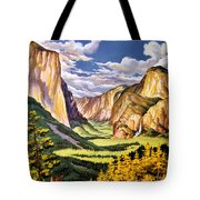 Yosemite National Park Vintage Poster Tote Bag