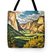 Yosemite Park Vintage Poster Tote Bag