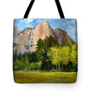 Yosemite - Ribbon Falls Tote Bag