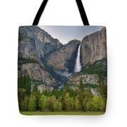 Yosemite Upper And Lower Falls Tote Bag