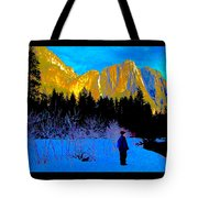 Yosemite Valley Winter Walk Tote Bag