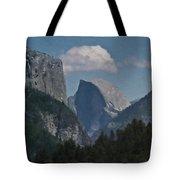 Yosemite View Of El Capitan And Half Dome Tote Bag