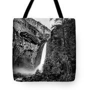 Yosemite Waterfall Bw Tote Bag