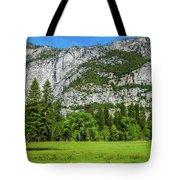 Yosemite West Valley Meadow Panorama #2 Tote Bag