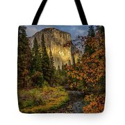 Yosemite's El Capitan In The Fall Tote Bag