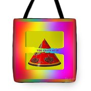 Abstract You Crack Me Up Tote Bag
