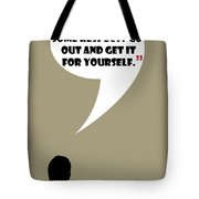 You Want Some Respect - Mad Men Poster Don Draper Quote Tote Bag