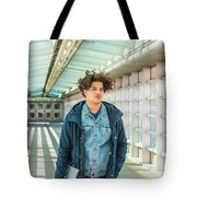 Young American College Student In New York Tote Bag