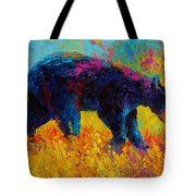 Young And Restless - Black Bear Tote Bag