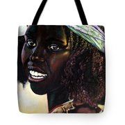 Young Black African Girl Tote Bag