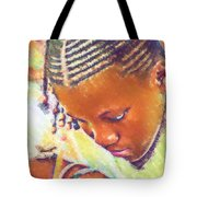 Young Black Female Teen 2 Tote Bag