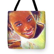 Young Black Female Teen 5 Tote Bag