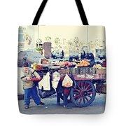 Young Boy Fruit Seller Tote Bag