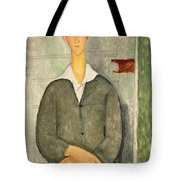 Young Boy With Red Hair Tote Bag