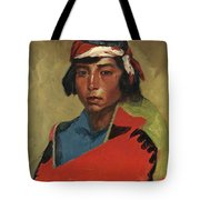 Young Buck Of The Tesuque Pueblo Tote Bag