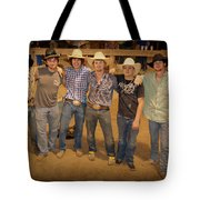 Young Bull Riders Portrait Tote Bag