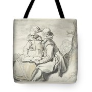 Young Couple Tote Bag