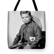 Young Cowboy Sitting Tote Bag