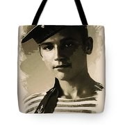 Young Faces From The Past Series By Adam Asar - Asar Studios, No 1 Tote Bag