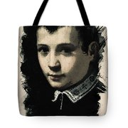 Young Faces From The Past Series By Adam Asar - Asar Studios, No 4 Tote Bag