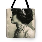 Young Faces From The Past Series By Adam Asar, No 105 Tote Bag