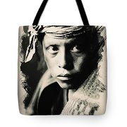 Young Faces From The Past Series By Adam Asar, No 109 Tote Bag