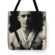 Young Faces From The Past Series By Adam Asar, No 110 Tote Bag
