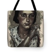 Young Faces From The Past Series By Adam Asar, No 112 Tote Bag