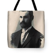 Young Faces From The Past Series By Adam Asar, No 113 Tote Bag