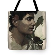 Young Faces From The Past Series By Adam Asar, No 115 Tote Bag