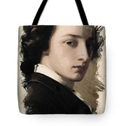Young Faces From The Past Series By Adam Asar, No 13 Tote Bag