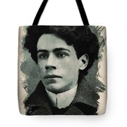 Young Faces From The Past Series By Adam Asar, No 15 Tote Bag