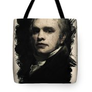 Young Faces From The Past Series By Adam Asar, No 25 Tote Bag