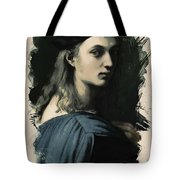 Young Faces From The Past Series By Adam Asar, No 32 Tote Bag