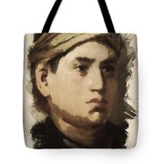 Young Faces From The Past Series By Adam Asar, No 36 Tote Bag