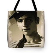 Young Faces From The Past Series By Adam Asar, No 39 Tote Bag