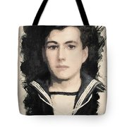 Young Faces From The Past Series By Adam Asar, No 48 Tote Bag