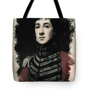 Young Faces From The Past Series By Adam Asar, No 54 Tote Bag