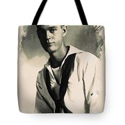 Young Faces From The Past Series By Adam Asar, No 63 Tote Bag