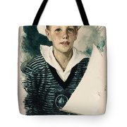 Young Faces From The Past Series By Adam Asar, No 66 Tote Bag