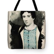 Young Faces From The Past Series By Adam Asar, No 71 Tote Bag