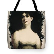 Young Faces From The Past Series By Adam Asar, No 72 Tote Bag