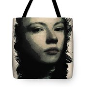 Young Faces From The Past Series By Adam Asar, No 75 Tote Bag