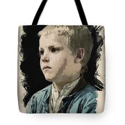Young Faces From The Past Series By Adam Asar, No 77 Tote Bag